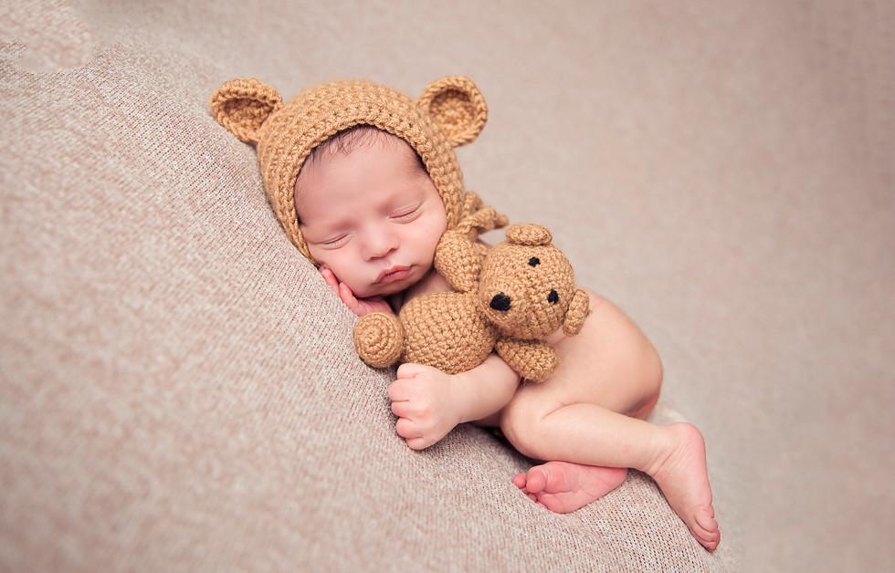 In studio newborn photography