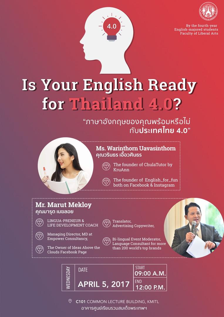 English for Thailand 4.0 Seminar - The P