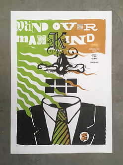 Mind Over Mankind screen printed poster