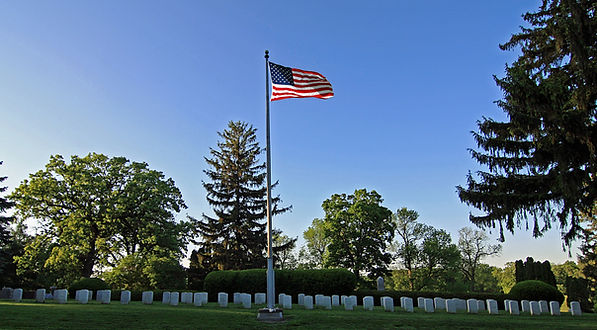 Oakdale Veterans Section with Flag.jpg