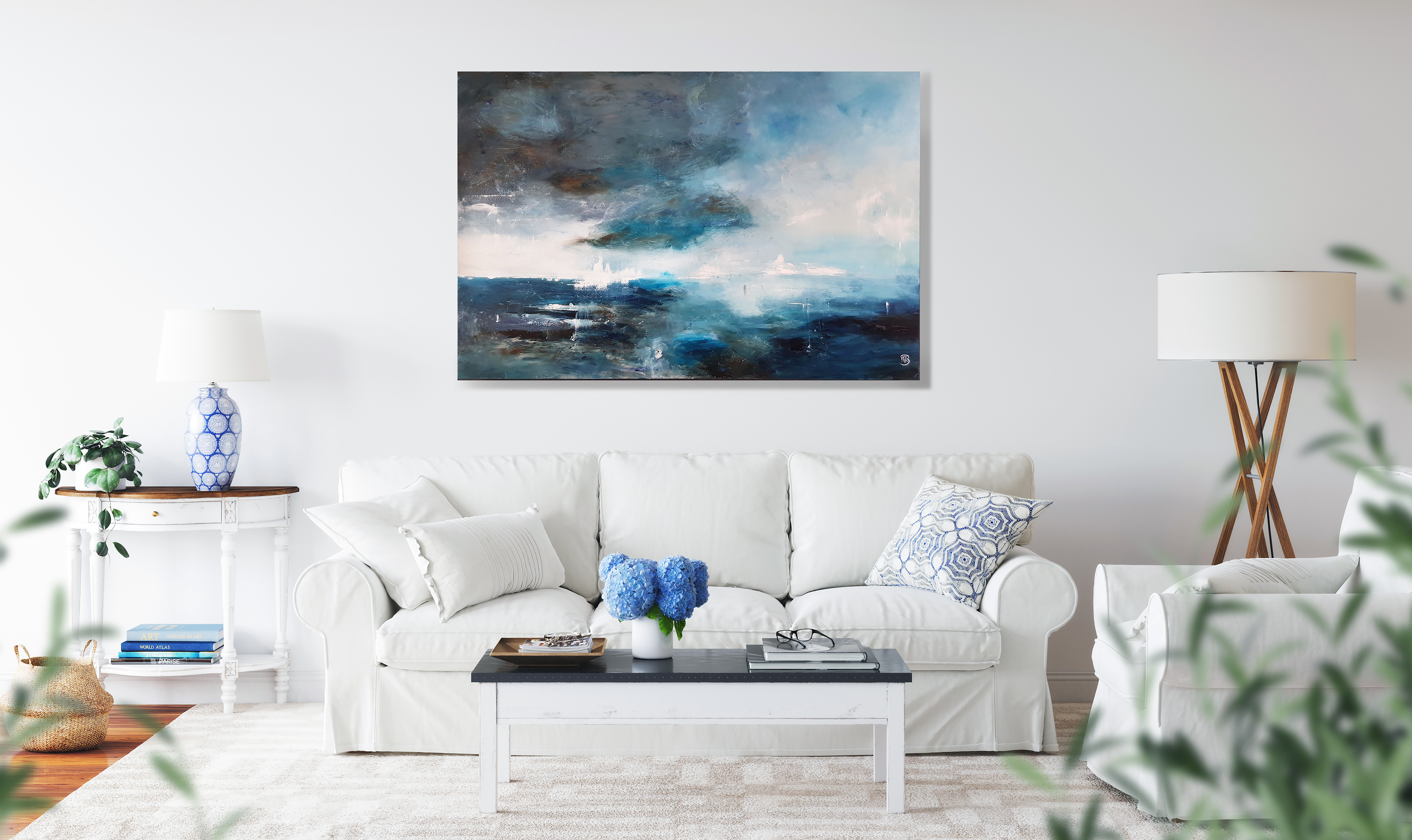 dreams of faraway places painting on wal
