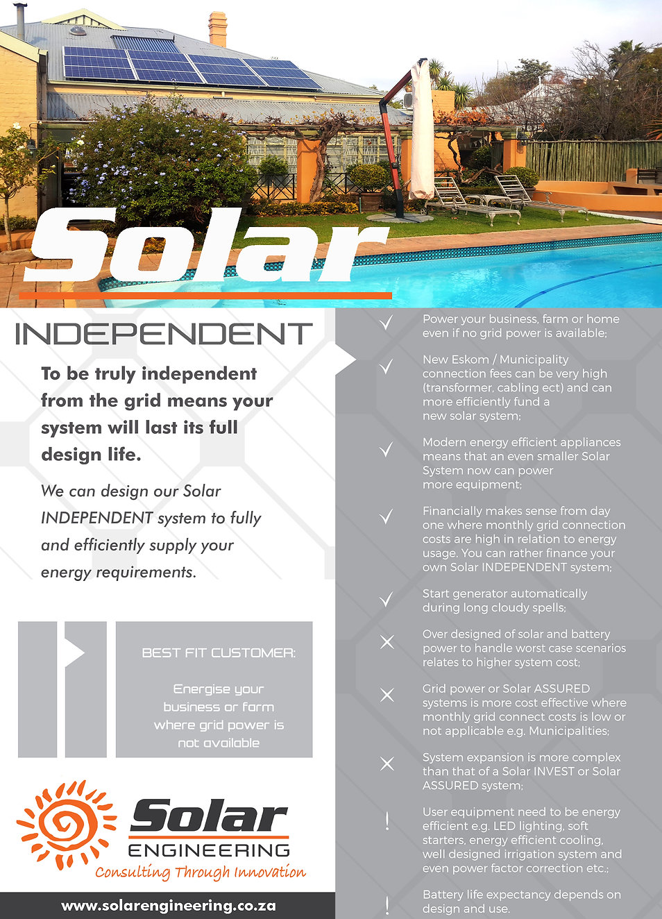 Solar independant system