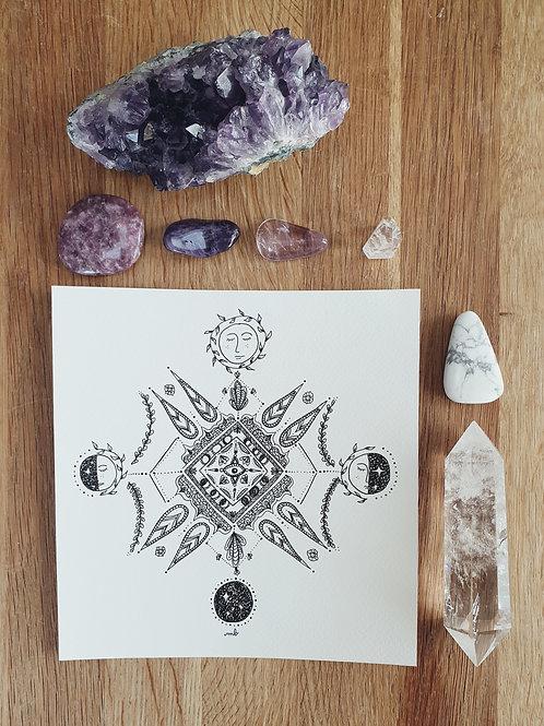 Dessin Inspiré - Mandala Lunaire