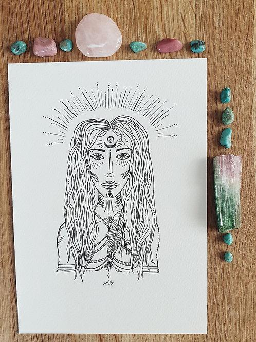 Dessin Inspiré - Femme Sauvage