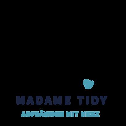 Madame Tidy Logo. Aufräumen mit Herz