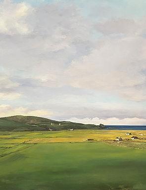 Landscape painting of Kilmaluag at north end of Isle of Skye, Scotland
