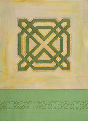 Irish themed contemporary painting with Celtic design