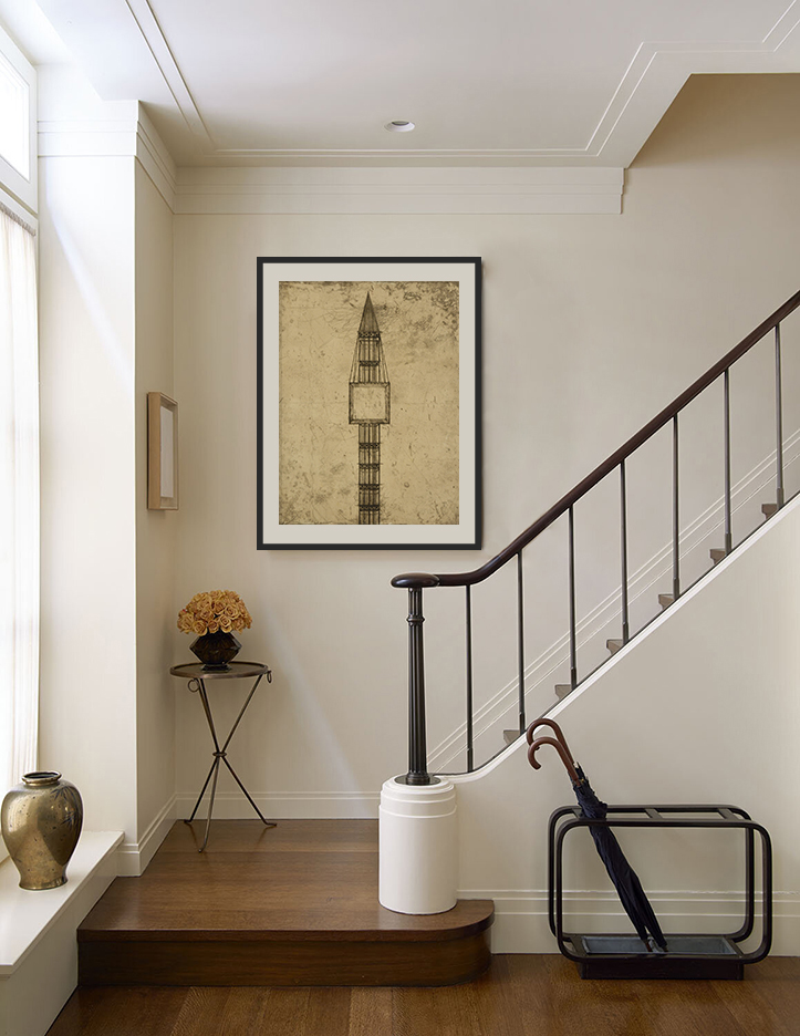 Hang art in your stairwell.