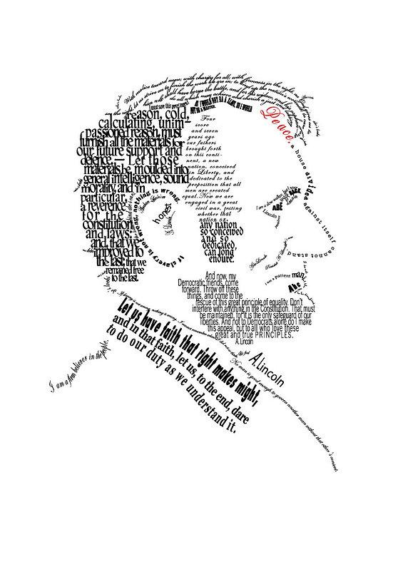 Illustraton, Portrait of Abraham Lincoln by Kazaan Viveiros