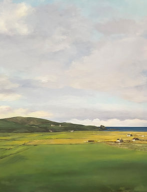 Late Day North End, landscape painting of Isle of Skye by Kazaan Viveiros