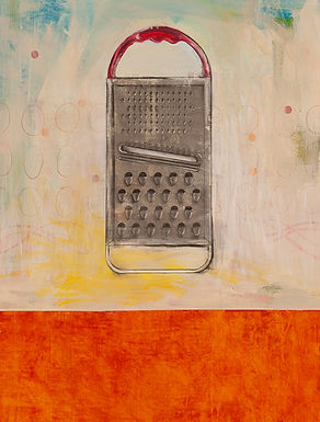 Contemporary pop art painting of cheese grater by Kazaan Viveiros