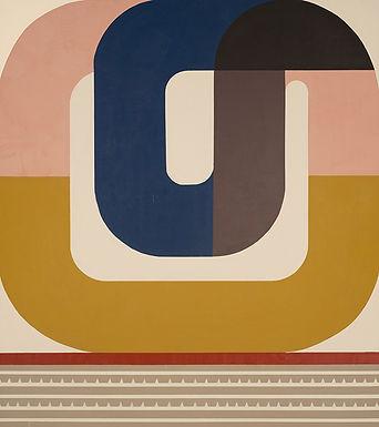 Falling Up, Geometric abstract painting by Kazaan Viveiros