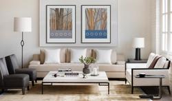 Hang artwork in pairs.