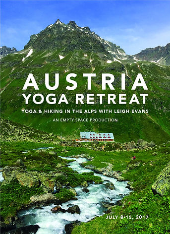 Graphic design for yoga retreat with Leigh Evans by Kazaan Viveiros