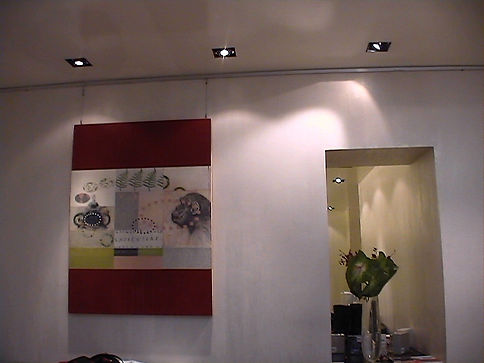 Large contemporary painting by Kazaan Viveiros in TAD Concept Store, Rome, Italy
