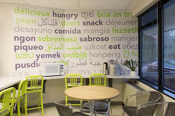 Language Word Mural Graphic Design by Kazaan Viveiros