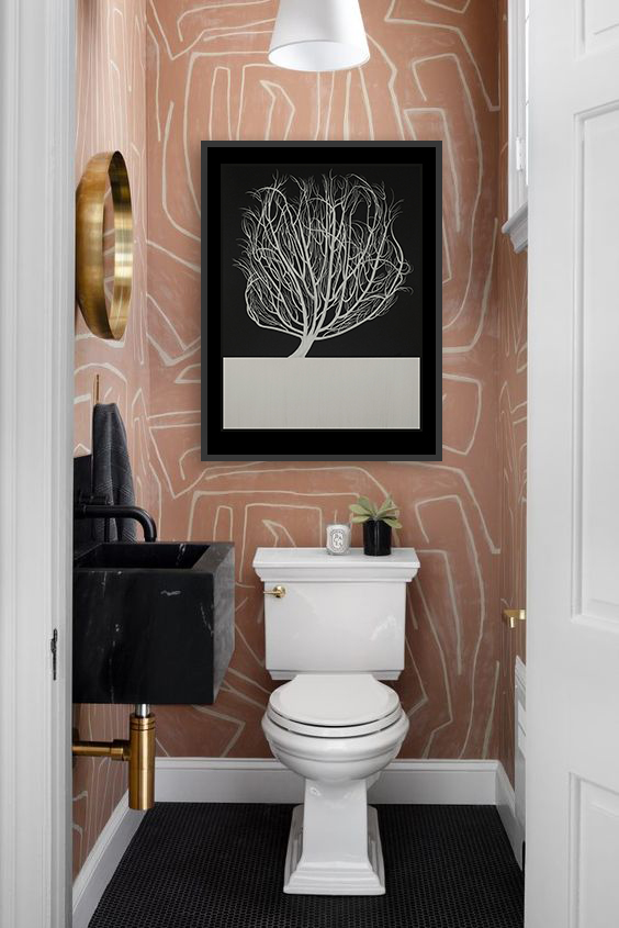 Add beauty to your bathroom.