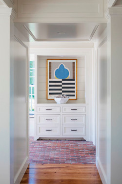 Beautify the end of a hallway.