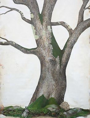 White Oak, oversize painting of oak tree by Kazaan Viveiros