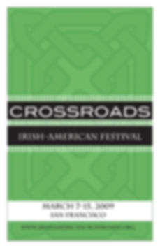 Graphic Design of Festival Program for Crossroads by Kazaan Viveiros