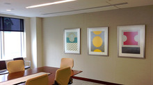 Abstract Work Installed at Perkins Coie