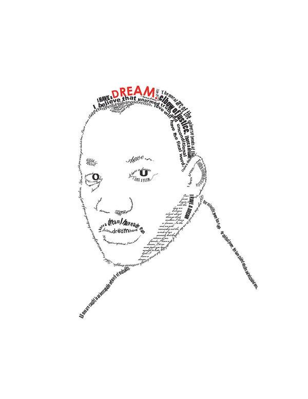 Illustration, Portrait of Martin Luther King, Jr., by Kazaan Viveiros