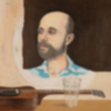Portrait, Album Cover for Bernhard Karakoulakis, aka Boo Hoo, by Kazaan Viveiros
