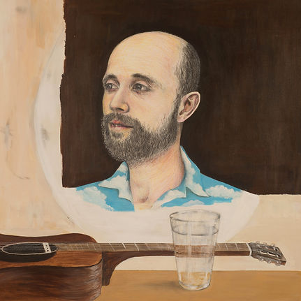 Portrait illustration of Bernhrd Karakoulakis, aka Boo Hoo, by Kazaan Viveiros