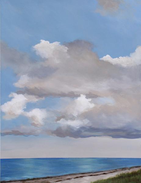 Sunlit Bay, landscape painting by Kazaan Viveiros