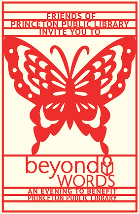 Graphic Design for Princeton Public Library Beyond Words benefit by Kazaan Viveiros