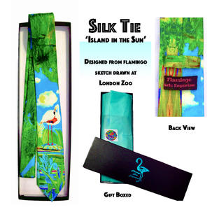 Silk Tie 'Island in the Sun'