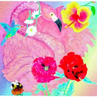 I Pad Art Flamingo Fantasy