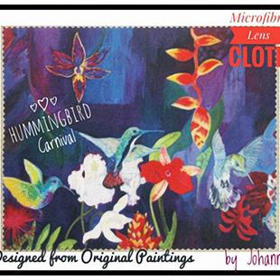 Lens Cloths Hummingbird Carnival (resize