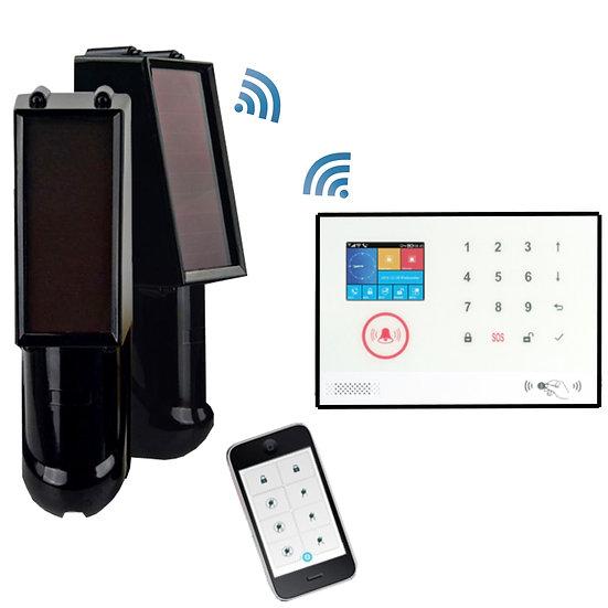 Wireless Alarm kit with WIFI & Solar Beams