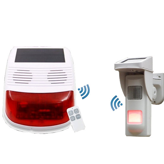 Wireless Solar Panel Alarm kit & Outside Passive