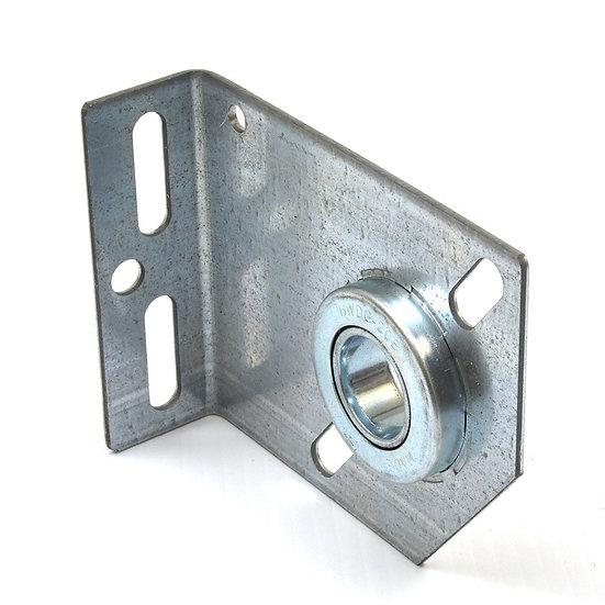 Garage door bearing plate centre