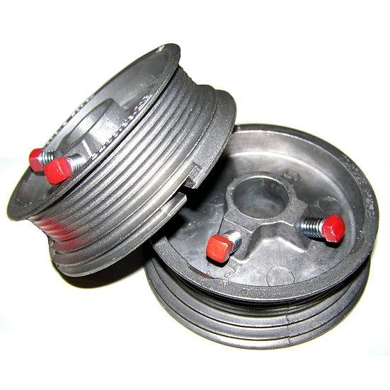 Garage door pulley drum set