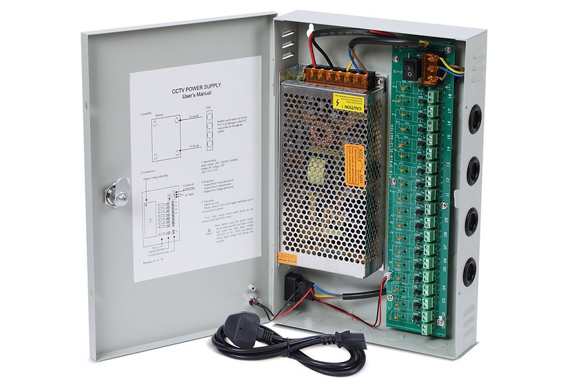 Power Supply box for CCTV Cameras 20A or 30A