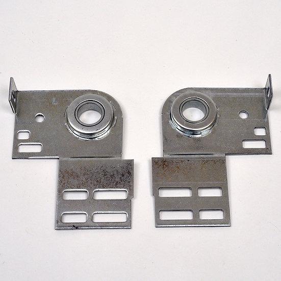 Garage door bearing plate side pair