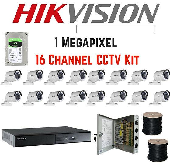 Hikvision 1080p 16 channel kit