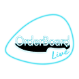 OrderBoard Plectrum for Black Background