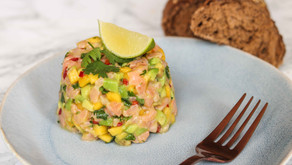 SALMON TATAR WITH AVOCADO AND MANGO
