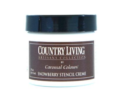 Snowberry Stencil Creme