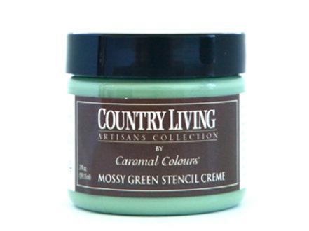 Mossy Green Stencil Creme