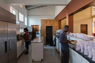 Light House Hotel kitchen in Huye