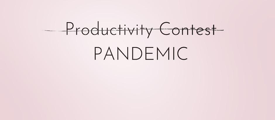 It's not a productivity contest.