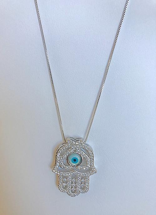 Necklace shiny greek evil eye aloadofball Choice Image