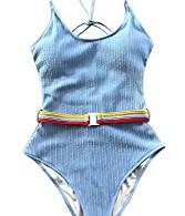 Belted Swim Suit