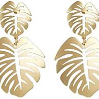 Gold Palm Earrings