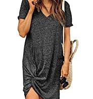 Knotted T-Shirt Dress